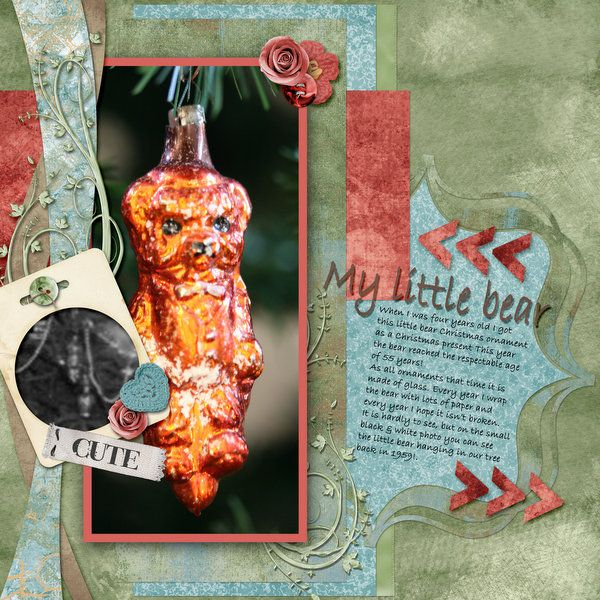 Little bear - Gotta Pixel - Gallery. Made with Angel Place by Kathryn Estry for the favorite things challenge.