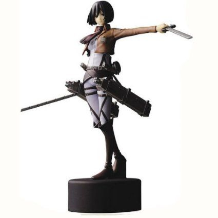 Coffetime-Spielzeug Standmodellbau Cosplay Japanische Attack On Titan Shingeki No Kyojin Mikasa Ackerman PVC Figur, Mit Box Packaging, Gr. 15cm