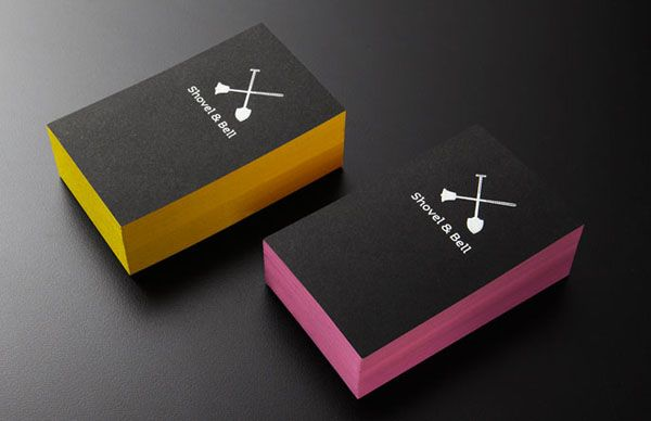 Shovel bell gelateria and cafe identity by manic design shovel and bell gelateria and cafe business cards by manic design colourmoves