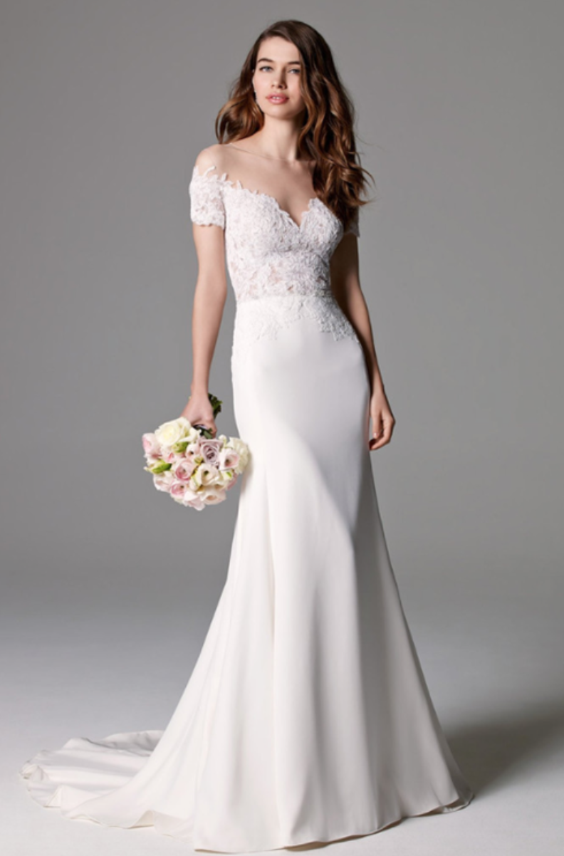 Watters Illusion Fit and Flare in Chantilly Lace #33240300 | Wedding ...