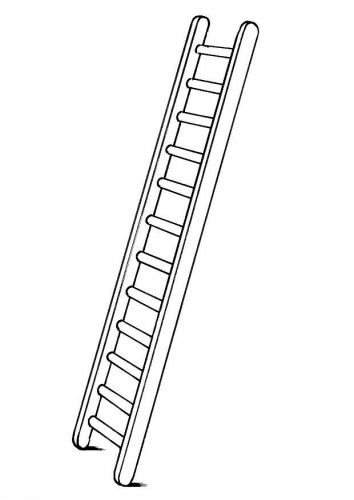 Ladder Coloring Sheet Clipart Black And White Clip Art Ladder Tattoo