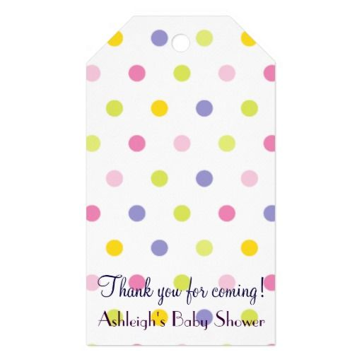 Thank You For Coming! Pastel Polka Dot Baby Shower Pack Of Gift Tags