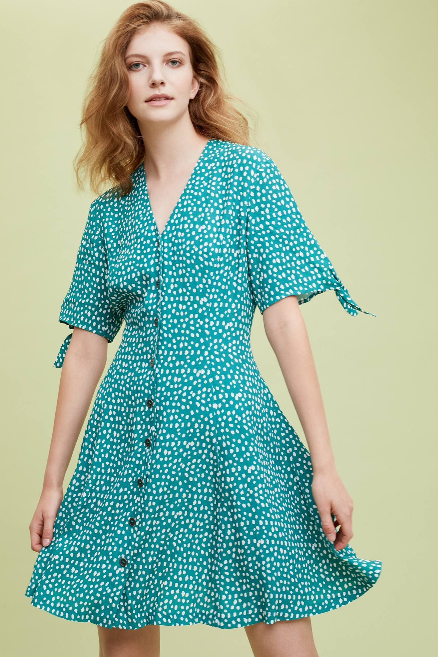 bbf9e28e73b49f Kachel Amerah Polka-Dot Dress