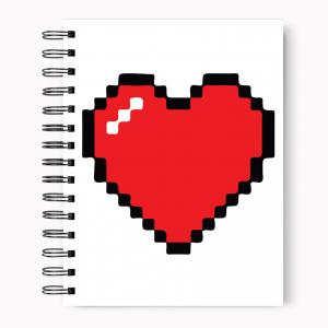 Spiral Notebook Minecraft Heart A4 Size Minecraft Heart Spiral Notebook Spiral