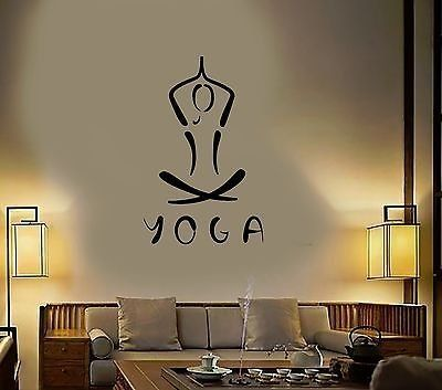 Vinyl decal yoga meditation buddhism hinduism hindu wall stickers mural vs406 find out more