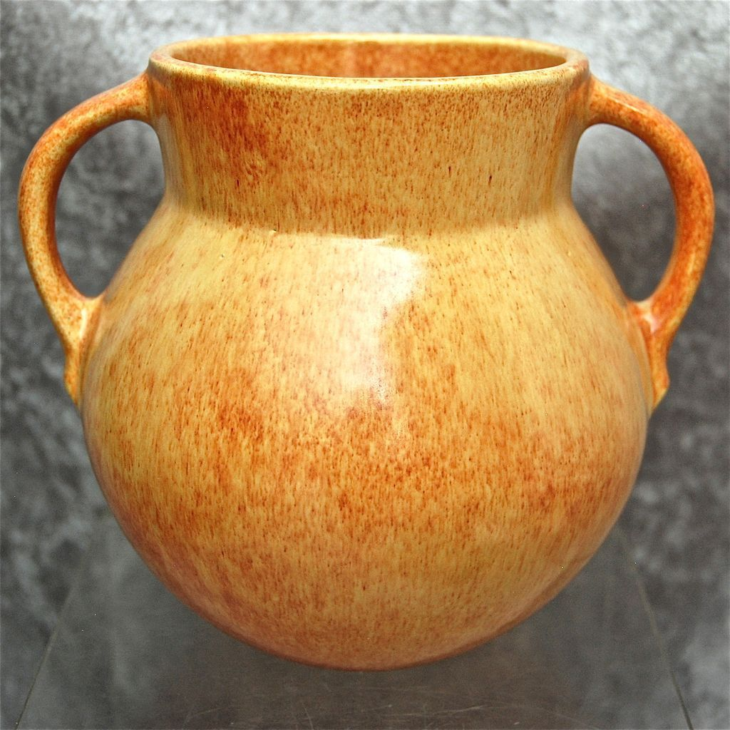 "Roseville Pottery Tourmaline Vase #A517-6"", Yellow, Circa 1933"