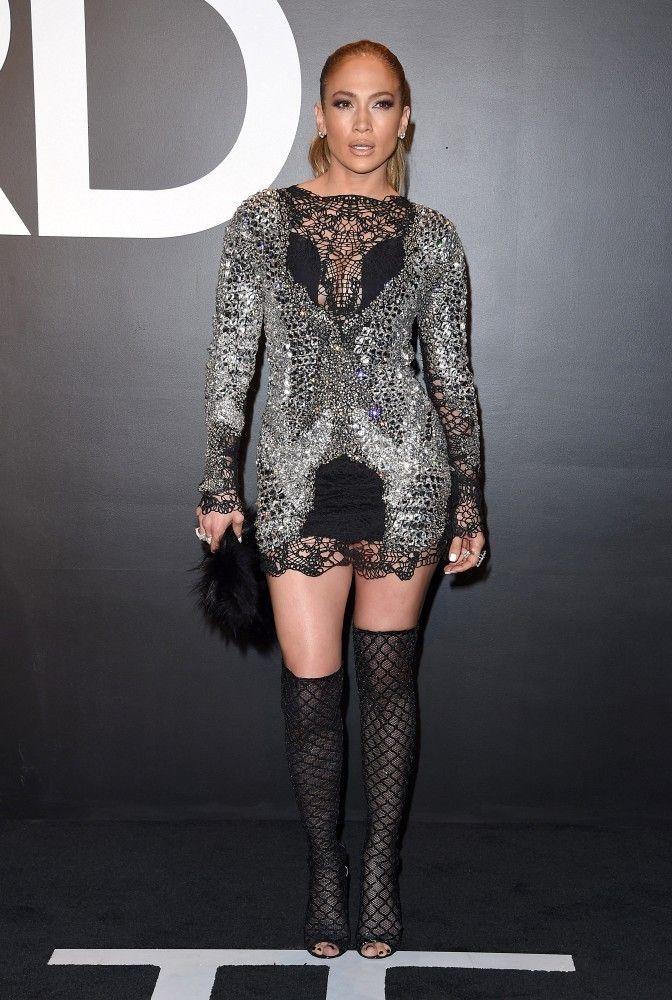 a83944285bf Jennifer Lopez Over the Knee Boots - Jennifer Lopez Looks - StyleBistro