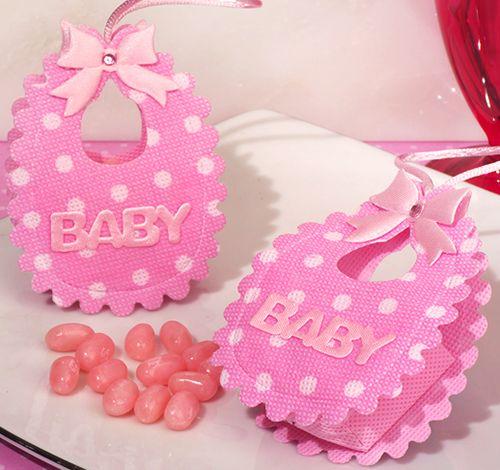 Adorable pink Baby bib bag / holder