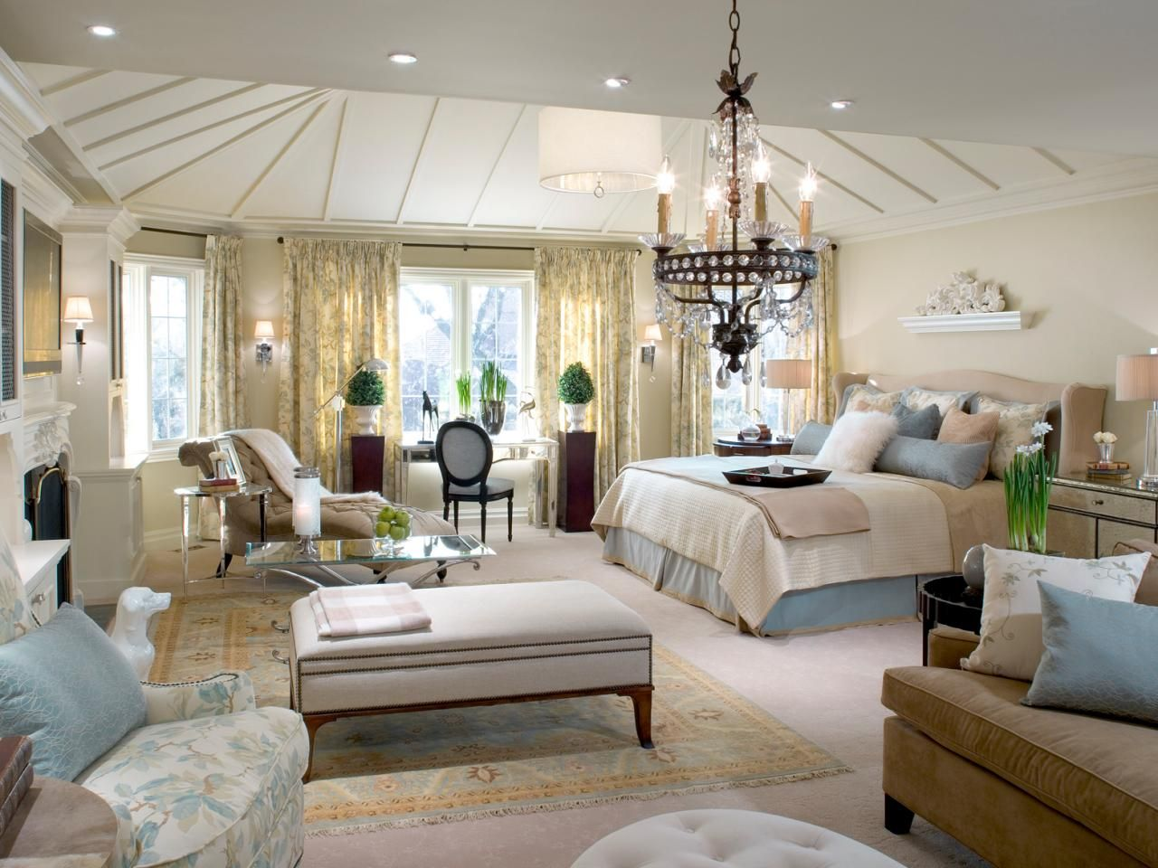 Master bedroom design   Divine Master Bedrooms by Candice Olson  Shades of blue Ceiling