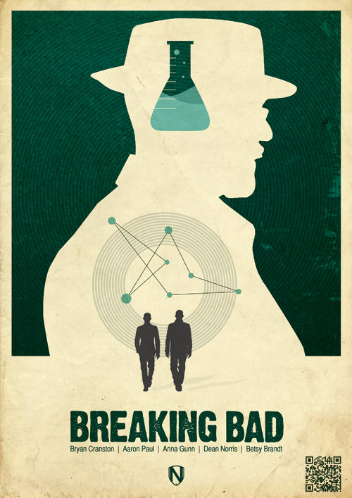 Vintage Inspired Posters For Your Favorite Tv Shows Bad Fan Art Breaking Bad Poster Breaking Bad Art
