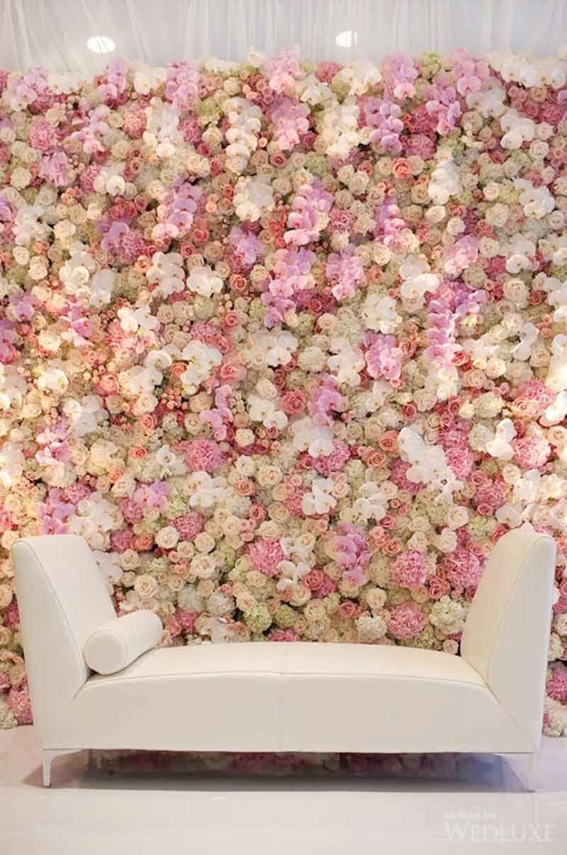 les plus belles id es de mur v g tal pour un photocall. Black Bedroom Furniture Sets. Home Design Ideas