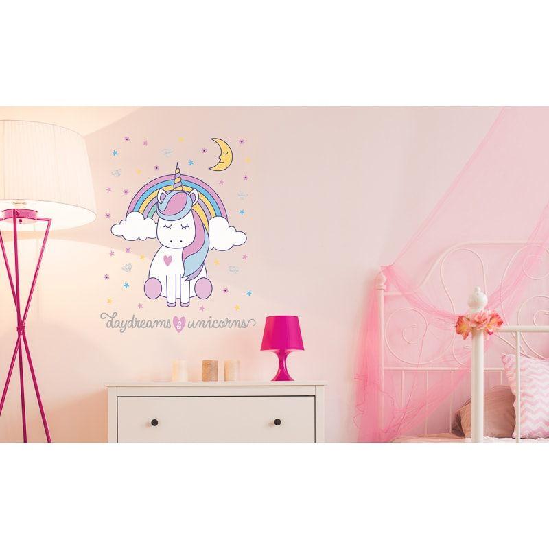 Unicorn Wall Sticker Daydreams Wallpaper B M Daydream Wallpaper Wall Sticker Childrens Bedrooms