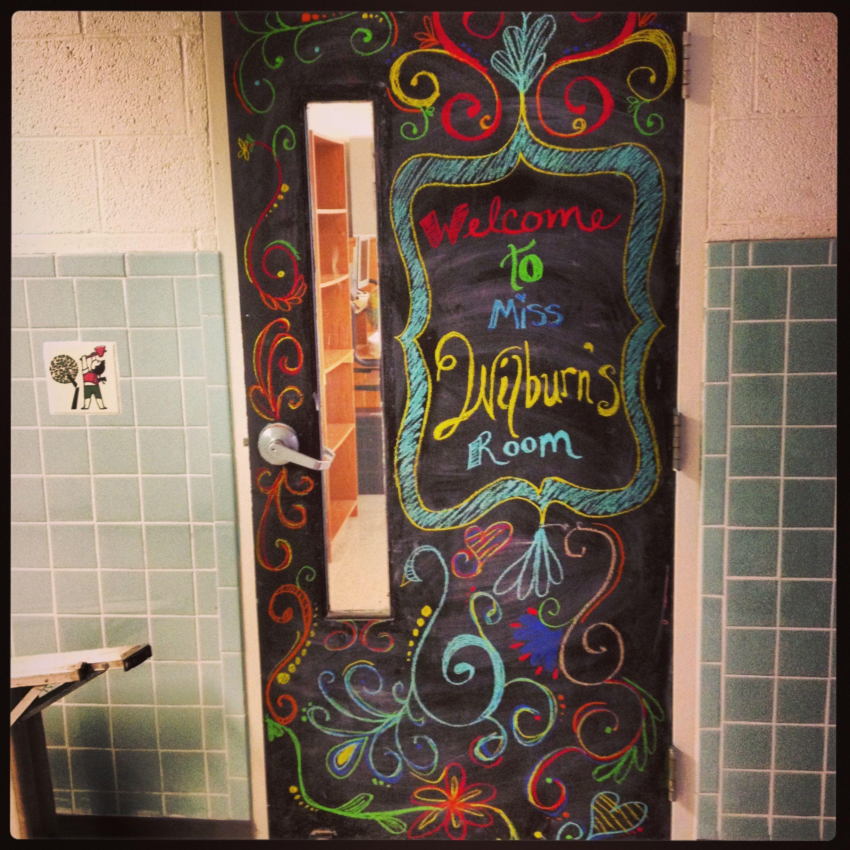 Classroom Chalkboard Door Chalkboard Classroom Chalkboard Classroom Theme Art Classroom Decor