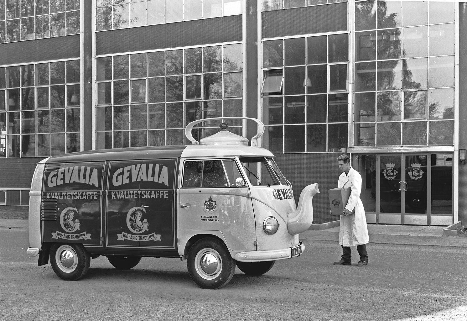 A Volkswagen T1 Panel Van Coffee Pot at the Gevalia