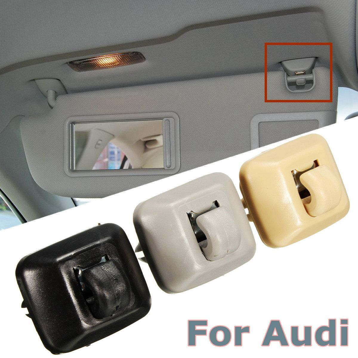 Inner sun visor hanger hook clip bracket fit for audi a1 a3 a4 a5 q3 q5