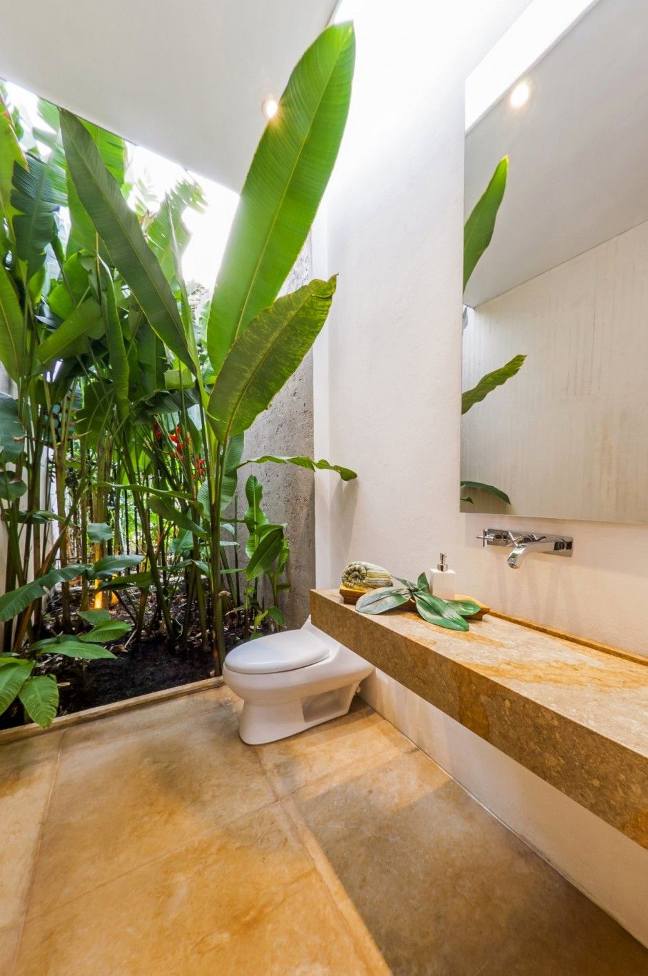 Indoor outdoor bathroom couldnut be this aggressive but itus