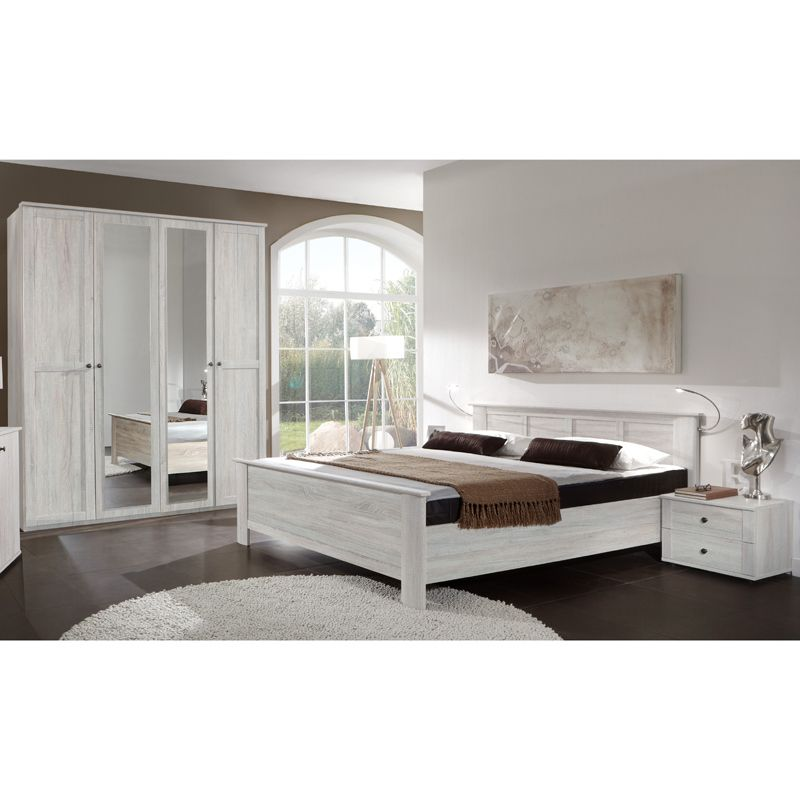 Schlafzimmer Set CHALETO166 Weißeiche Jetzt bestellen unter   - günstige komplett schlafzimmer