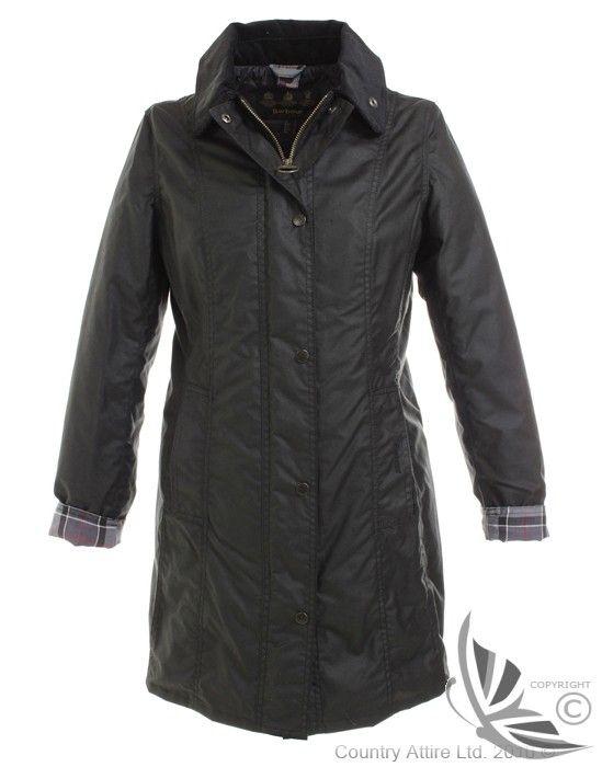 Barbour Ladies' Belsay Wax Jacket - Black LWX0050BK91 (L3430BK)