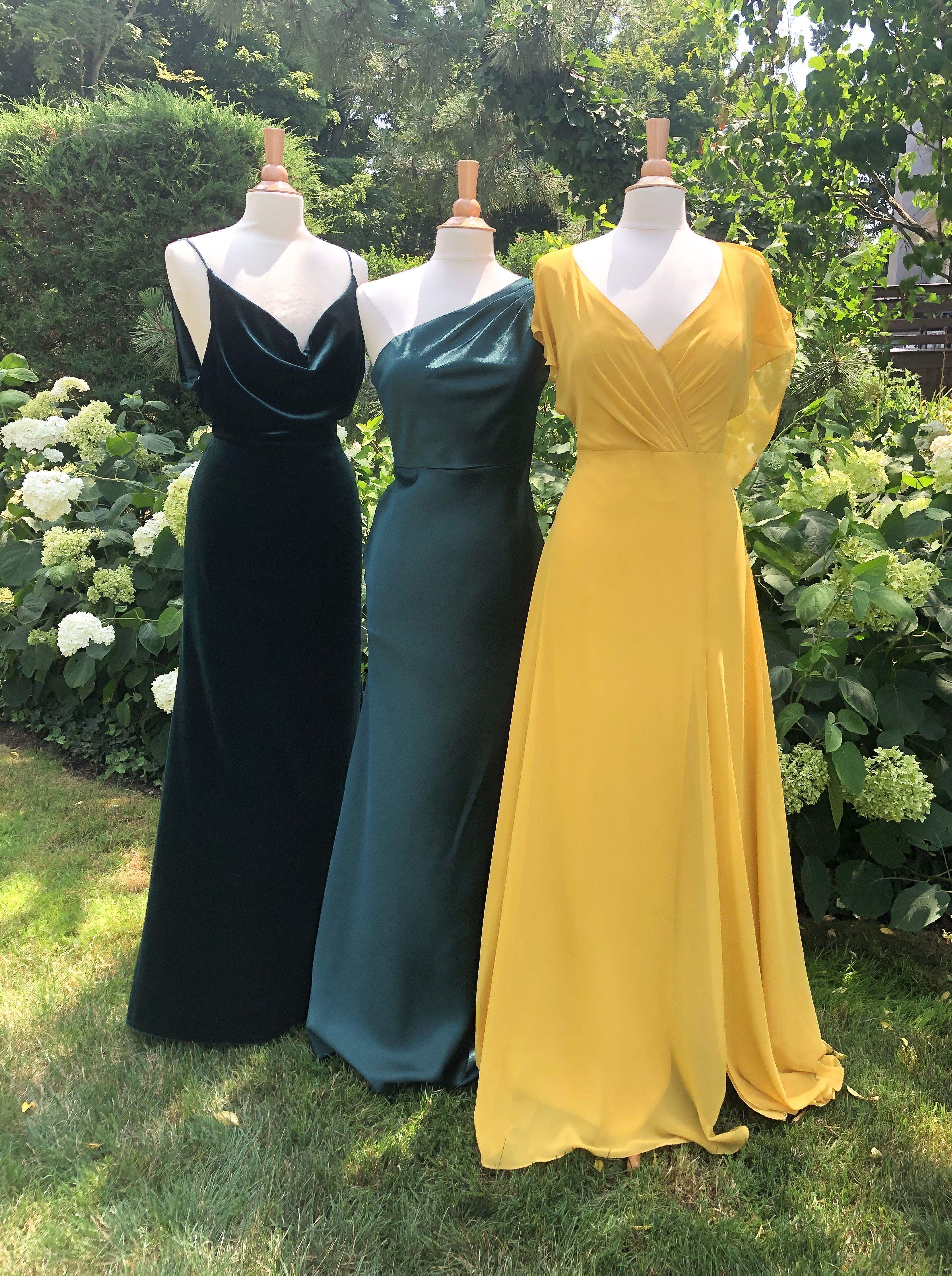Jenny Yoo Fall Bridesmaids Yellow Bridesmaid Dresses Fall Bridesmaid Dresses Jenny Yoo Bridesmaid Dress [ 3866 x 2885 Pixel ]
