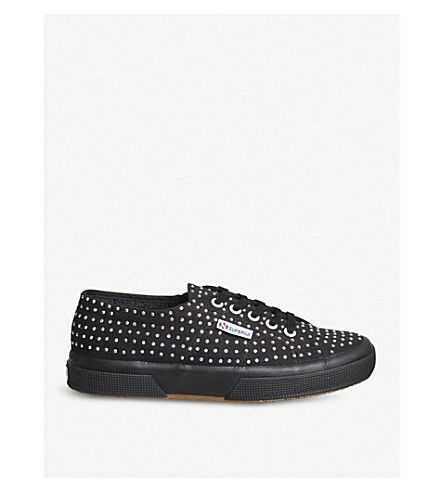 de4f2883af6784 SUPERGA 2750 Cotsu Swarovski Crystal-embellished sneakers.  superga  shoes