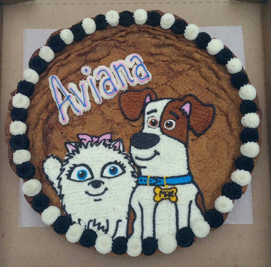 Max And Zoe Secret Life Of Pets Cookie Cake Birthday Party Cake