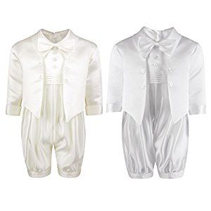 Christening Suit 4pc Sailor Suit White Navy Baby Boys Christening Outfit
