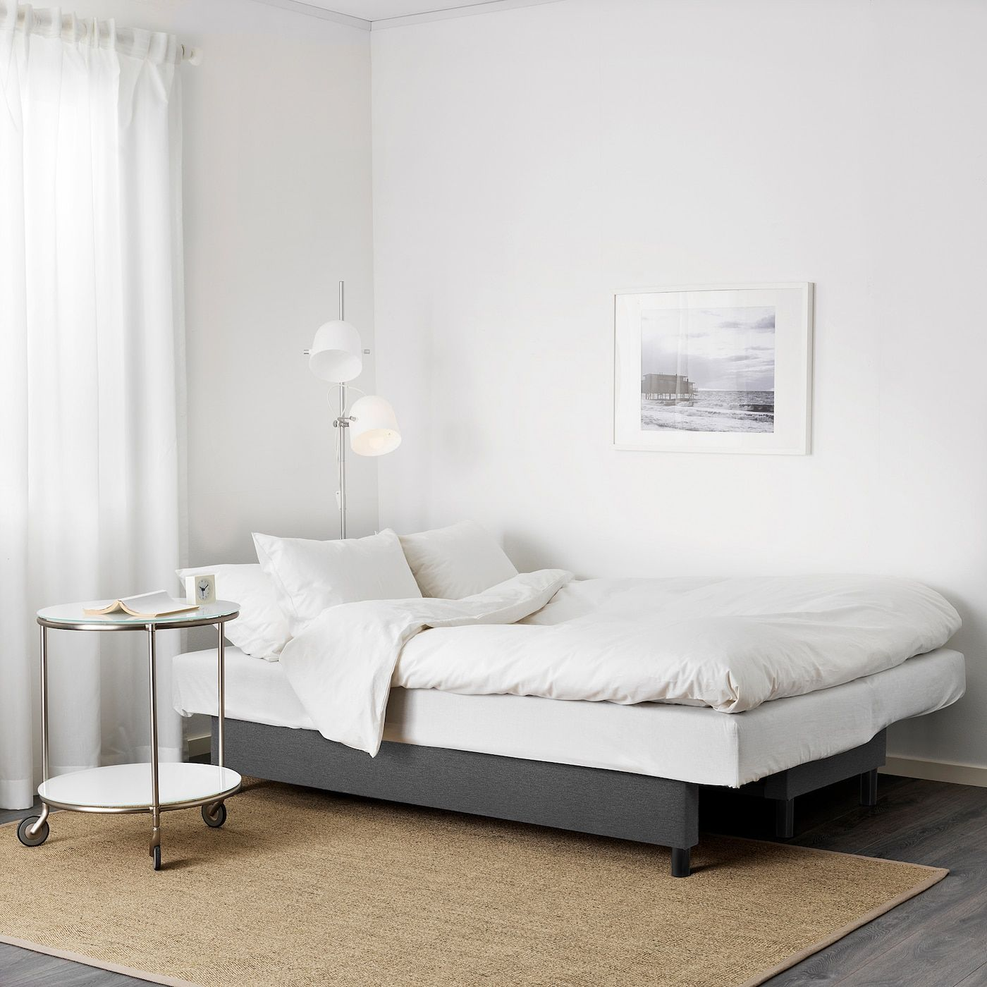 Asarum 3 Seat Sofa Bed Knisa Dark Grey In 2020 Ikea Sofa Bed