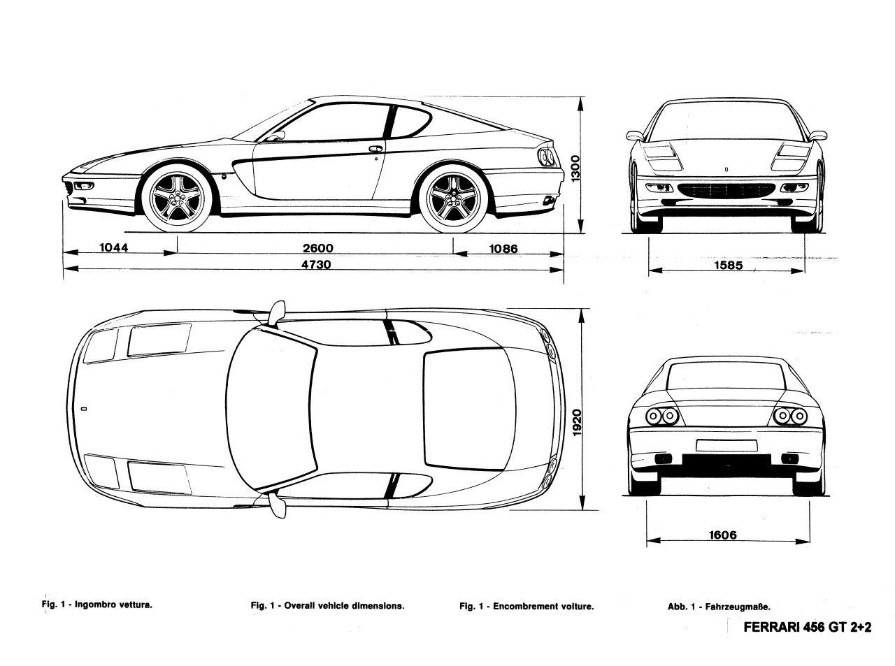 Ferrari 456 gt | Blueprints | Pinterest | Ferrari 456, Ferrari and Cars