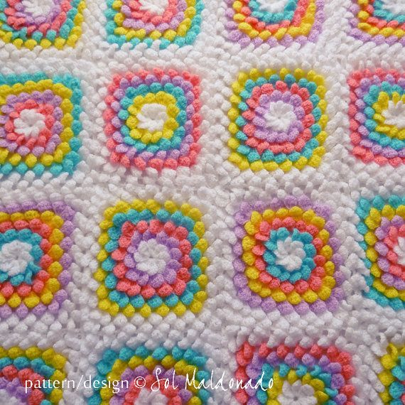 Baby Blanket Floral crochet pattern - Yummy Flower granny square ...