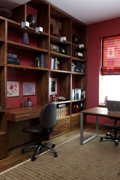 Home Office - contemporary - home office - new york - Holzman Interiors, Inc.
