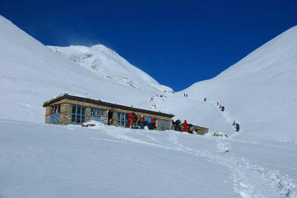 Annapurna circuit, throng la pass 5416m Nepal.
