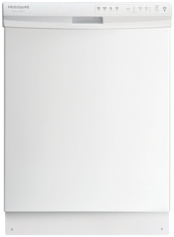 Energy Star Kitchen Appliances Frigidaire Fgbd2434pw 24 White Full Console Dishwasher Energy