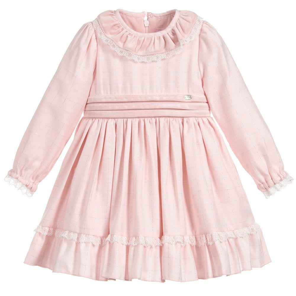 4d7cb7126 Pink Viscose   Velvet Dress for Girl by Piccola Speranza. Discover ...