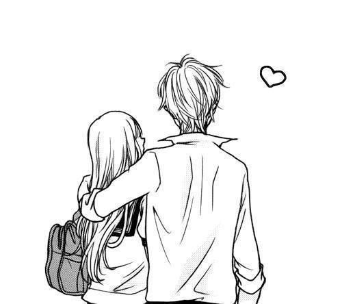 Pin By Sefani Damayanti On Art Cute Couple Drawings Romantic Anime Couple Drawings