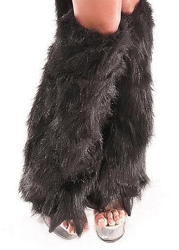 Feather Christmas Costume Leg Warmers