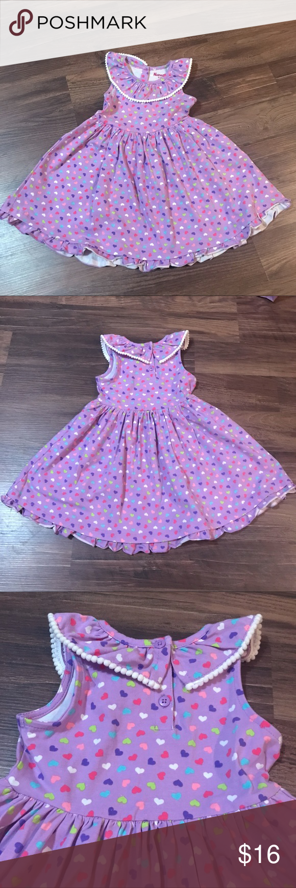 Nannette Kids Collar Tank Heart Dot Dress 4t Dot Dress Kids Dresses Dresses [ 1740 x 580 Pixel ]