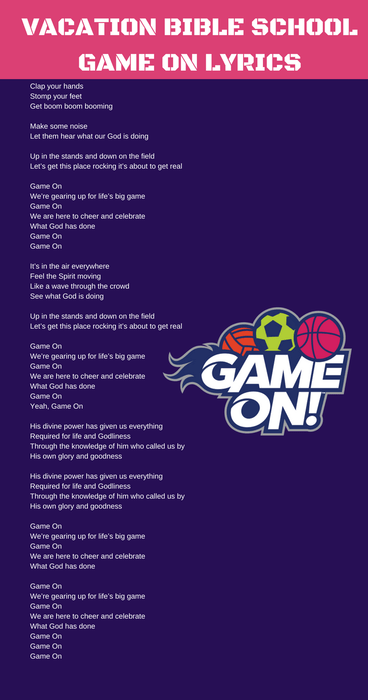 Game On Theme Song Lyrics #Lifeway VBS 2018 Game On Music