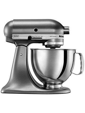 kitchenaid ksm150psqg artisan series with pouring shield mixer 5 rh in pinterest com