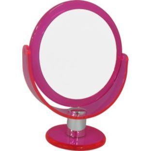 Buy Pretty Pink Standing 2 Sided Mirror at Argos.co.uk - Your Online Shop for Make up mirrors.