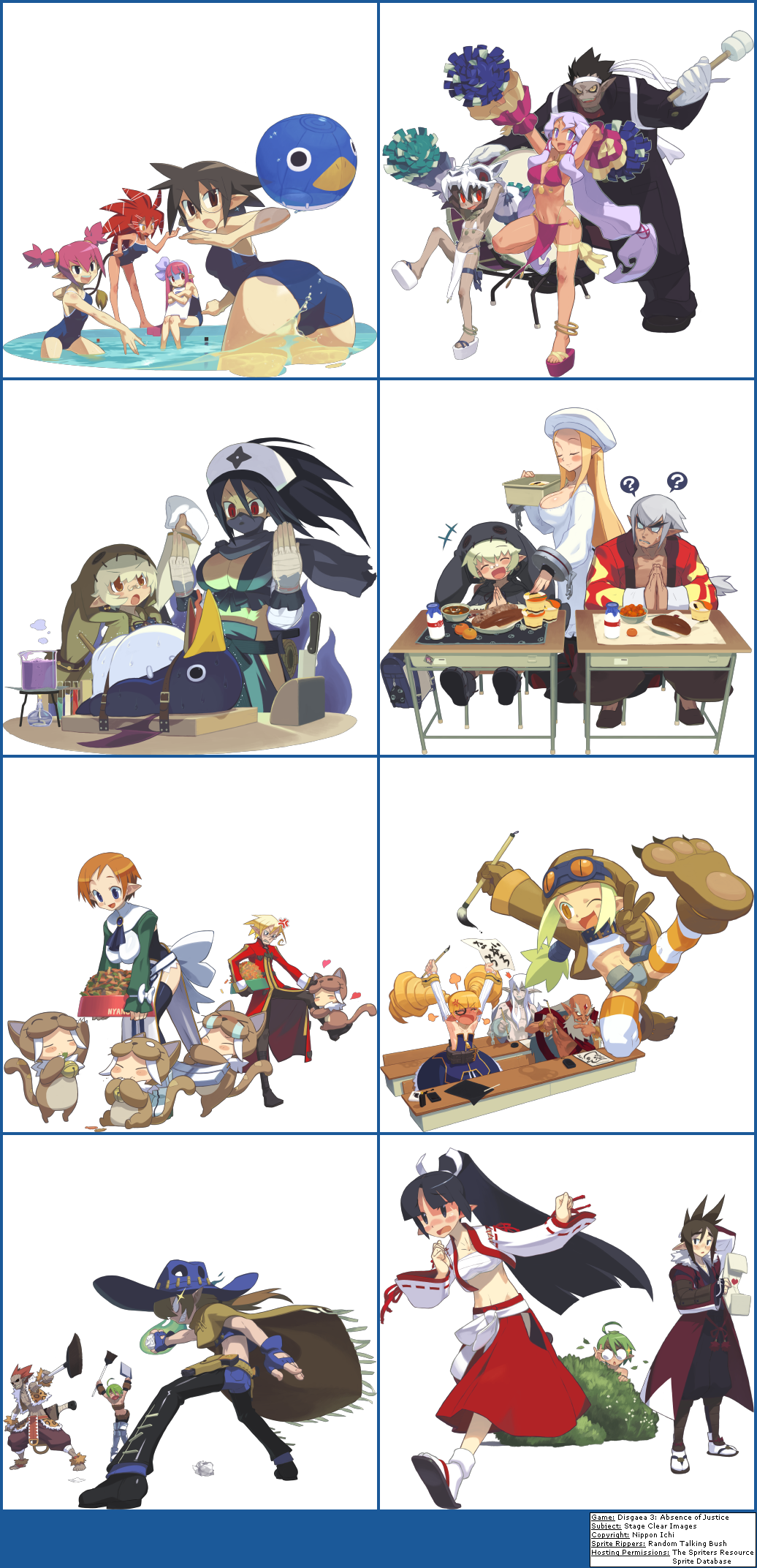 Disgaea 3 Absence Of Justice Stage Clear Images Disgaea Character Design Anime