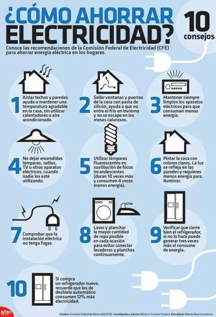 10 consejos de cómo ahorrar electricidad. | curiosities | Pinterest ...
