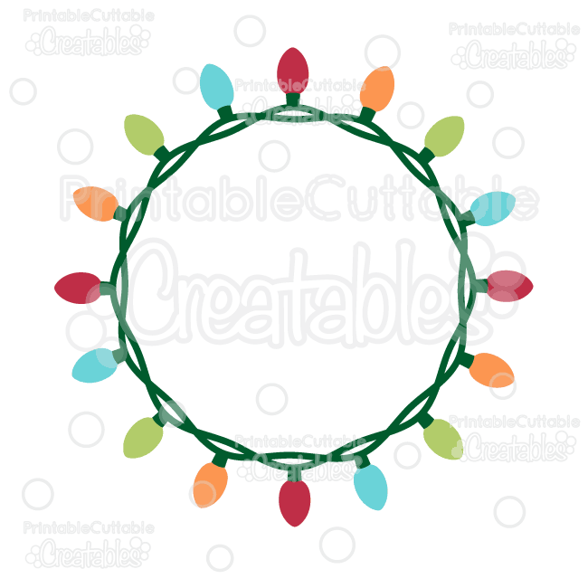 Christmas Lights Silhouette Png.Pin On Free Svg Cutting Files