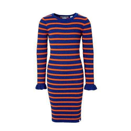 Gestreepte jurk blauworanje Gestreepte jurk, Blauw oranje