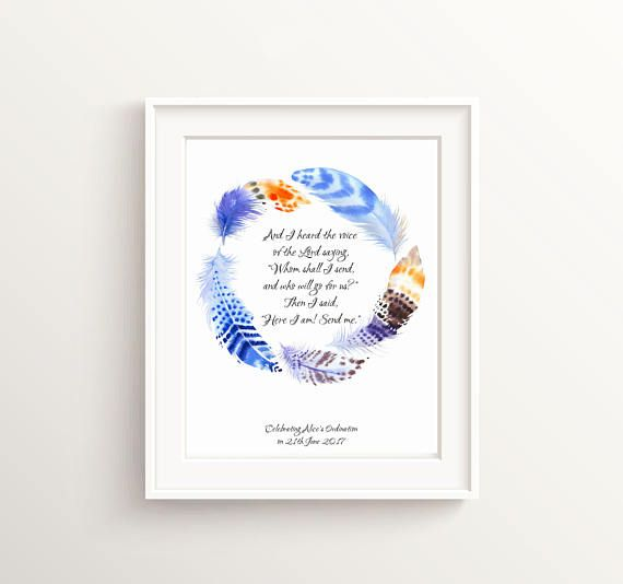 Isaiah 6 8, Ordination Gift, Personalized Confirmation Gift ...