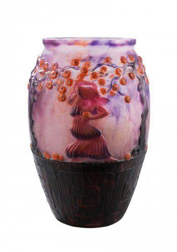 """Vase """"Le Jardin des Hespérides"""" - Gabriel ARGY-ROUSSEAU (1885-1953)"""