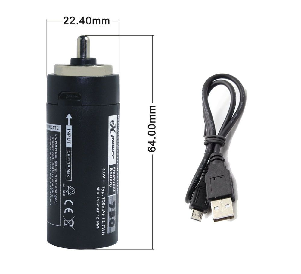 Rechargable Replace 3 Aaa Flashligh Battery Cartridge Micro Usb Charging Cable Usb Charging Cable Cartridges Rechargeable Batteries