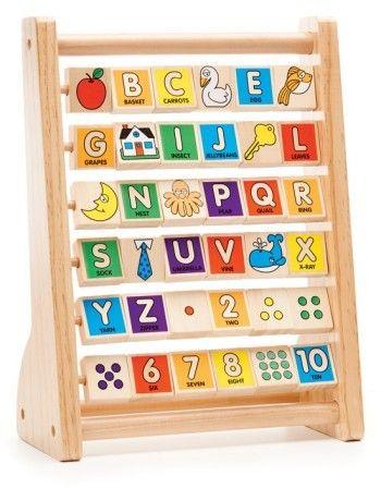 Melissa & Doug ABC-123 Abacus | Melissa and doug, Alphabet ...