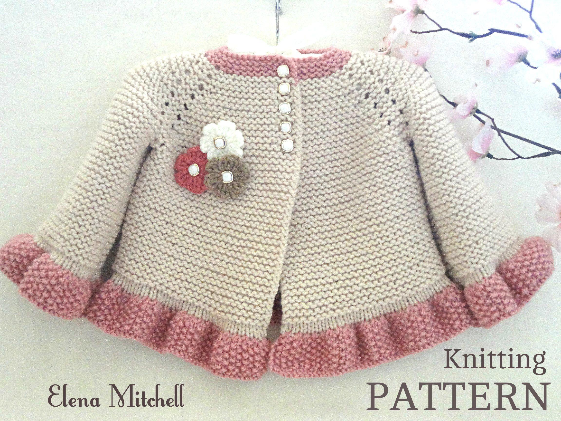 Knitting pattern baby jacket baby cardigan garter stitch knit knitting pattern baby jacket baby cardigan garter stitch knit bankloansurffo Images