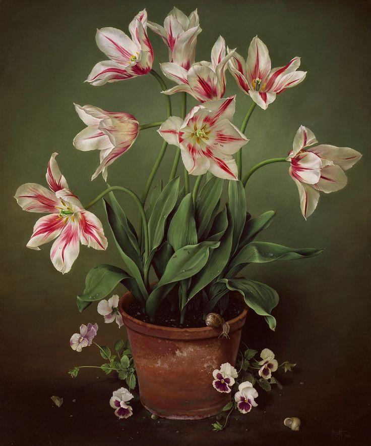 Tulips with Pansies (José Escofet)