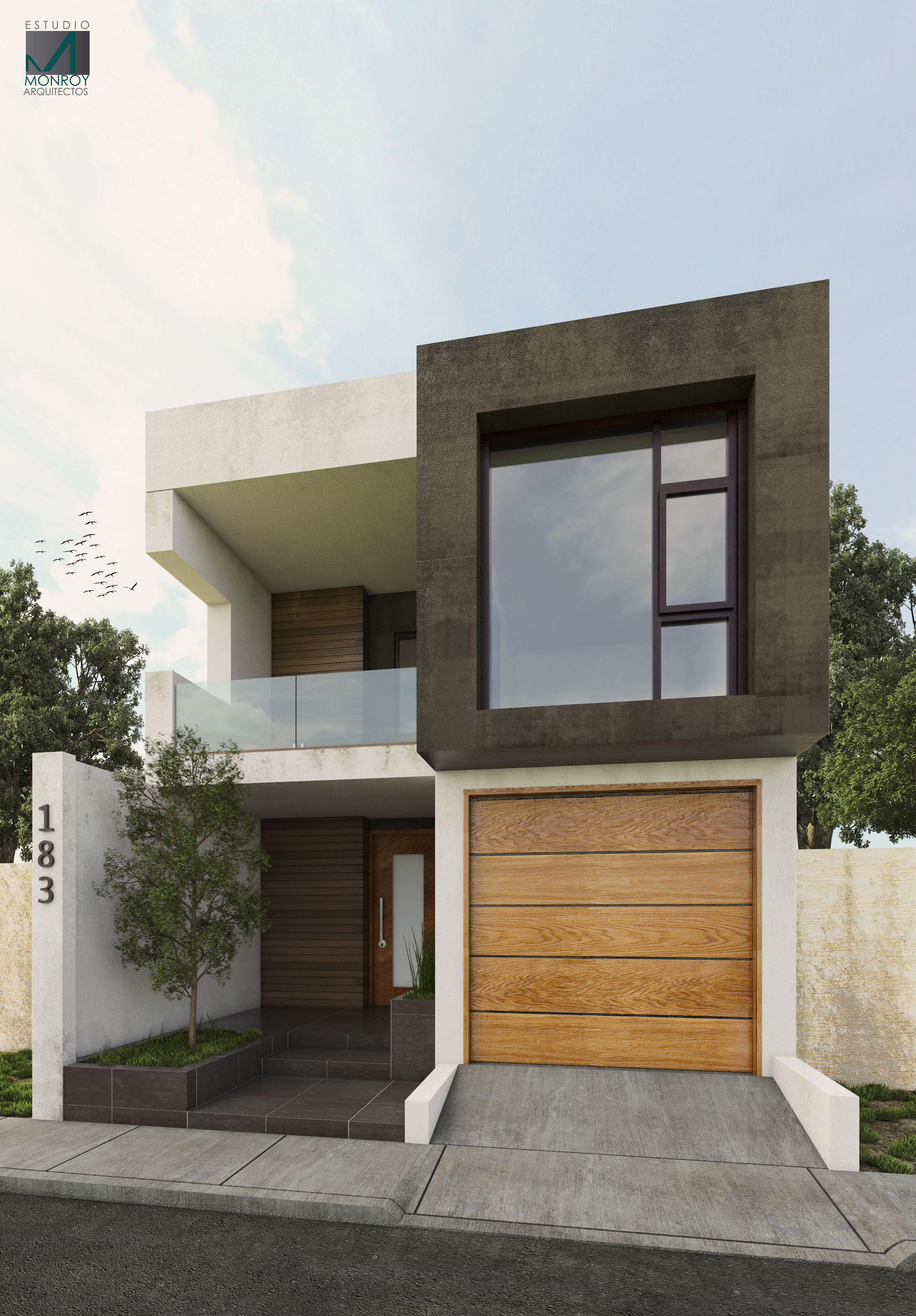 Projeto remodelaci n fachada contempor nea estudio for Viviendas minimalistas pequenas